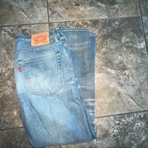 Levi's 522 Slim Tapered Distressed Jeans 32x30